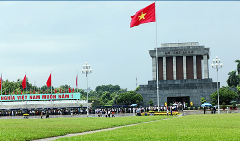 Ho Chi Minh Mausoleum and Uncle Ho's stilt house